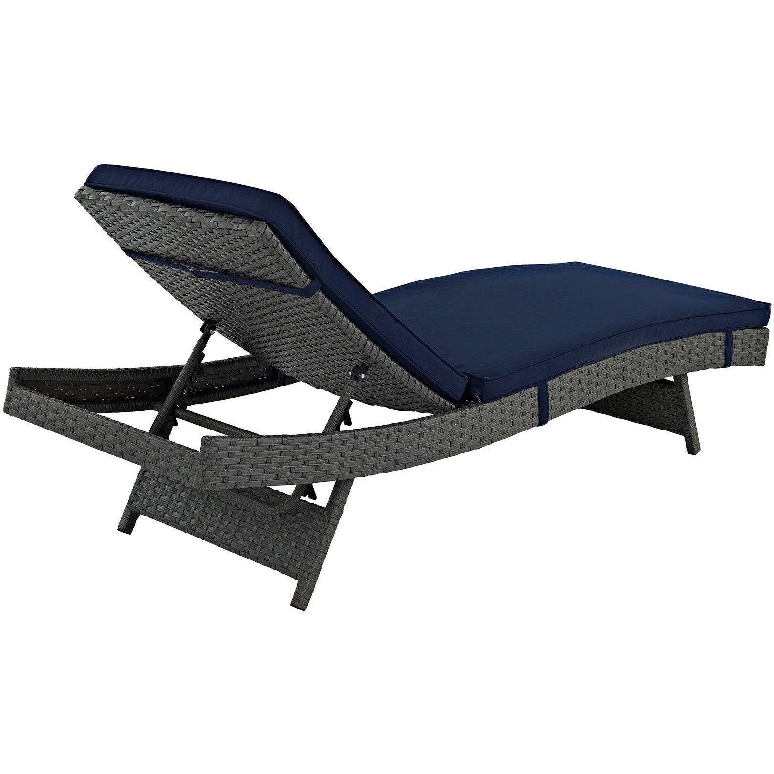 Sojourn Outdoor Patio Sunbrella® Chaise - Canvas Navy