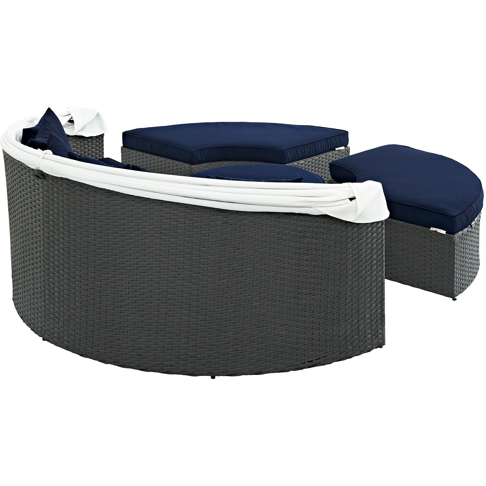 Sojourn Outdoor Patio Sunbrella® Daybed - Canvas Navy