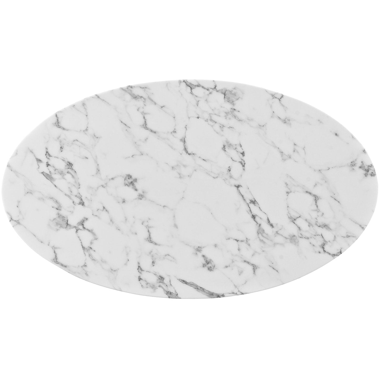 "Lippa 48"" Oval Artificial Marble Dining Table - White"