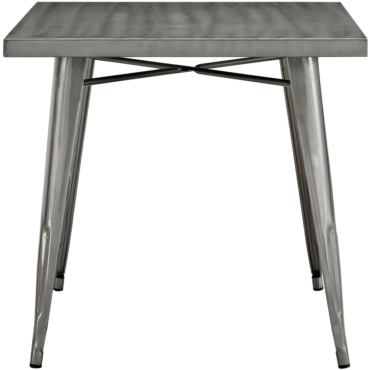 Alacrity Square Metal Dining Table - Gunmetal
