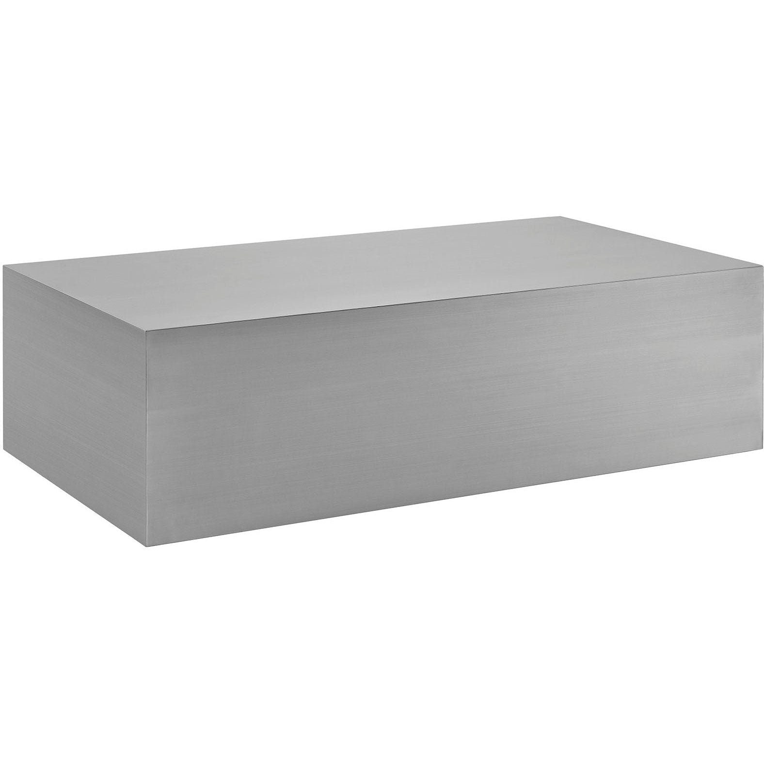 Cast Stainless Steel Coffee Table - Silver