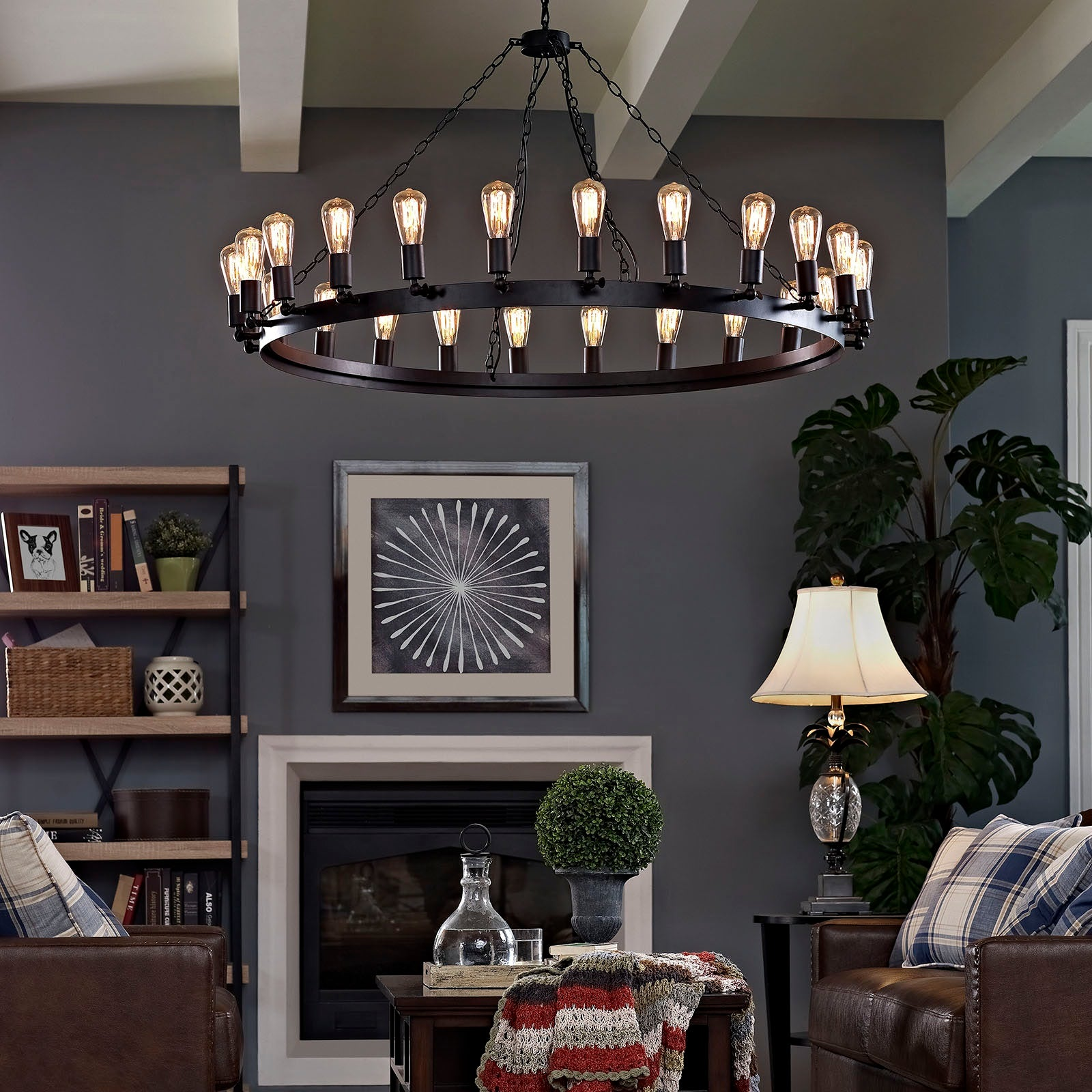 "Teleport 52"" Chandelier - Brown"