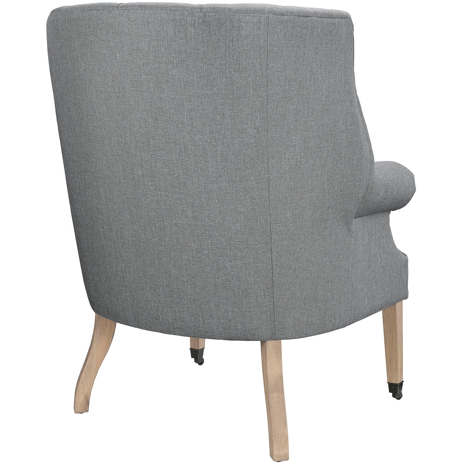 Chart Upholstered Fabric Lounge Chair - Light Gray