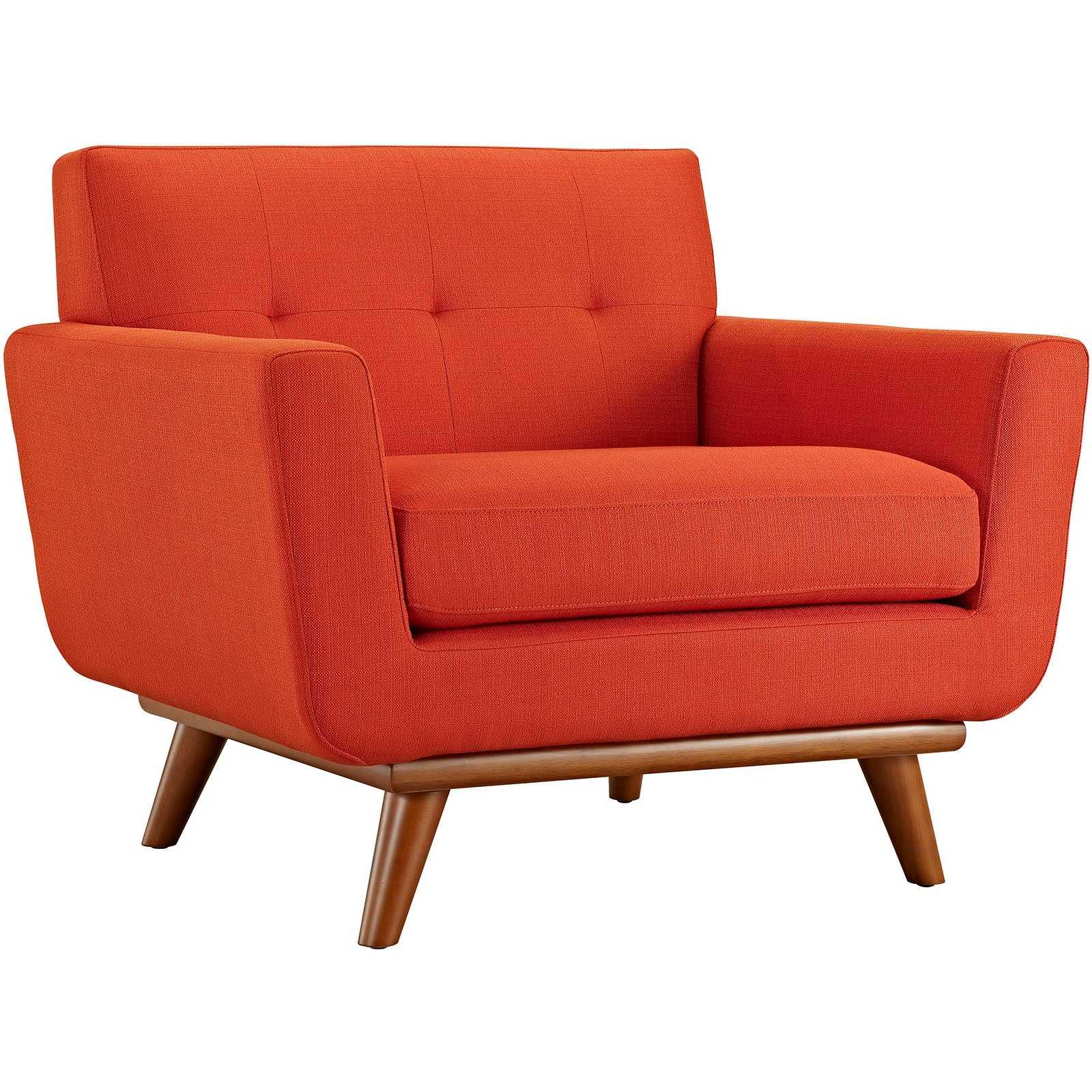 Engage 2 Piece Armchair and Ottoman - Atomic Red