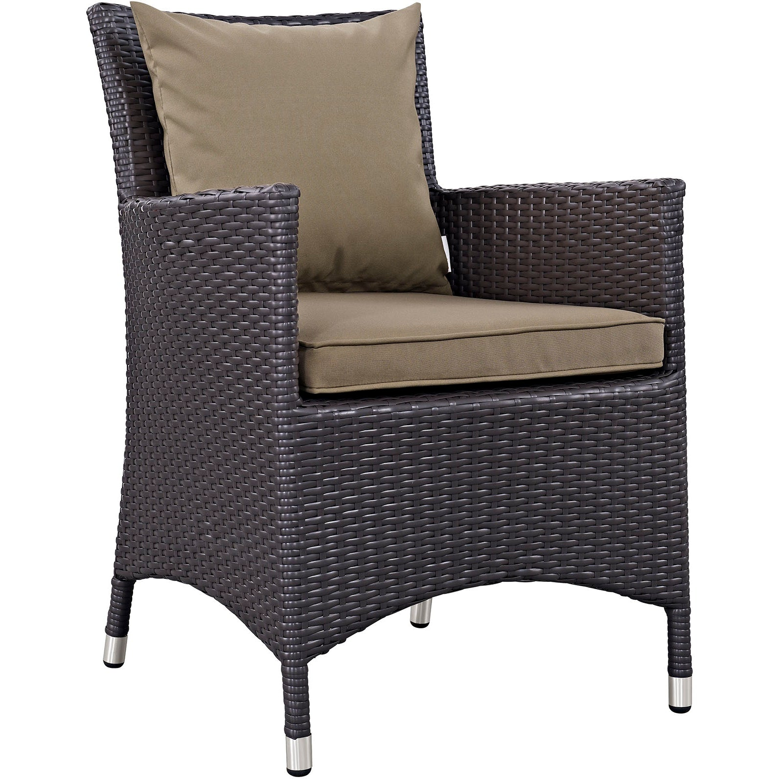 Convene 4 Piece Outdoor Patio Dining Set - Espresso Mocha