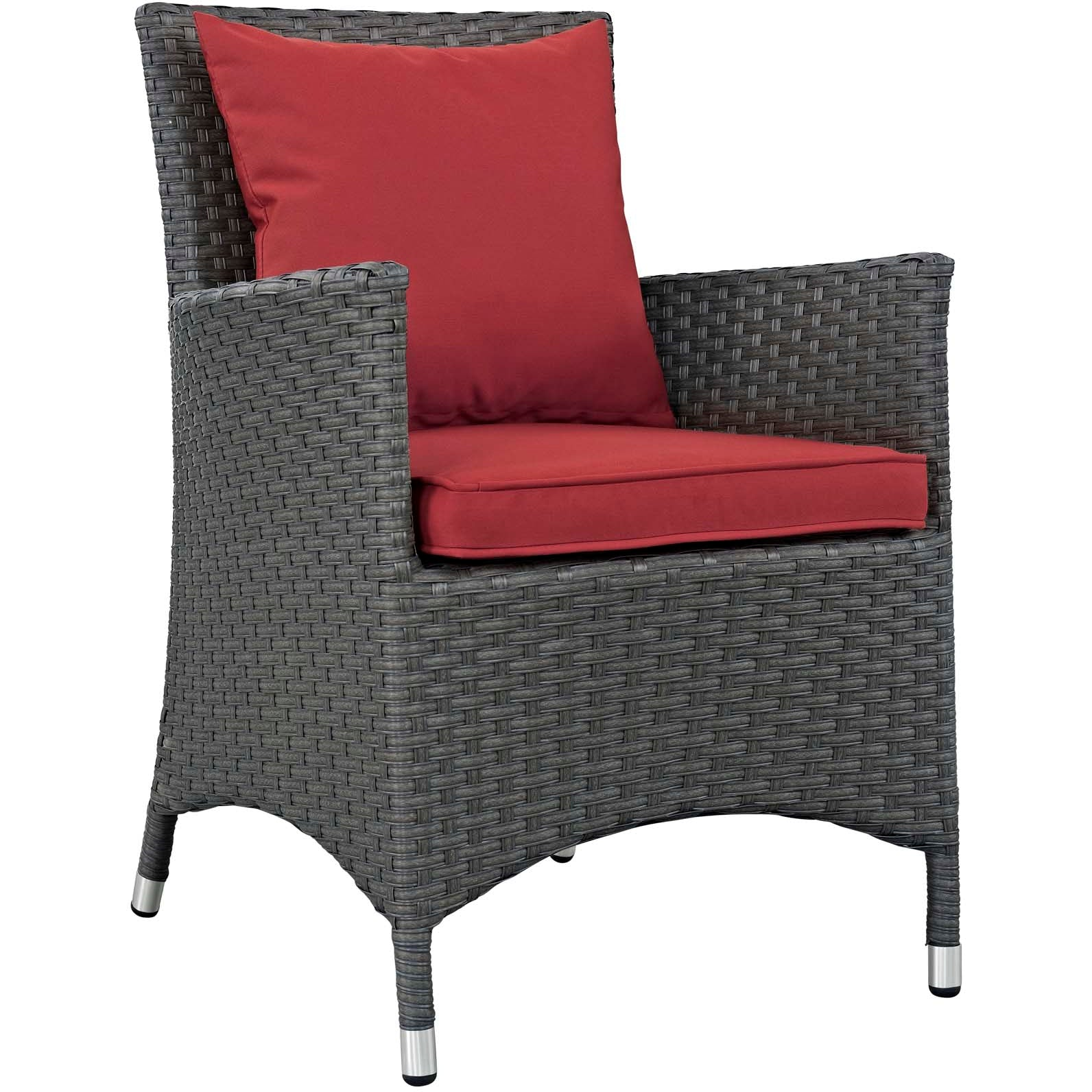 Sojourn 2 Piece Outdoor Patio Sunbrella® Dining Set - Canvas Red