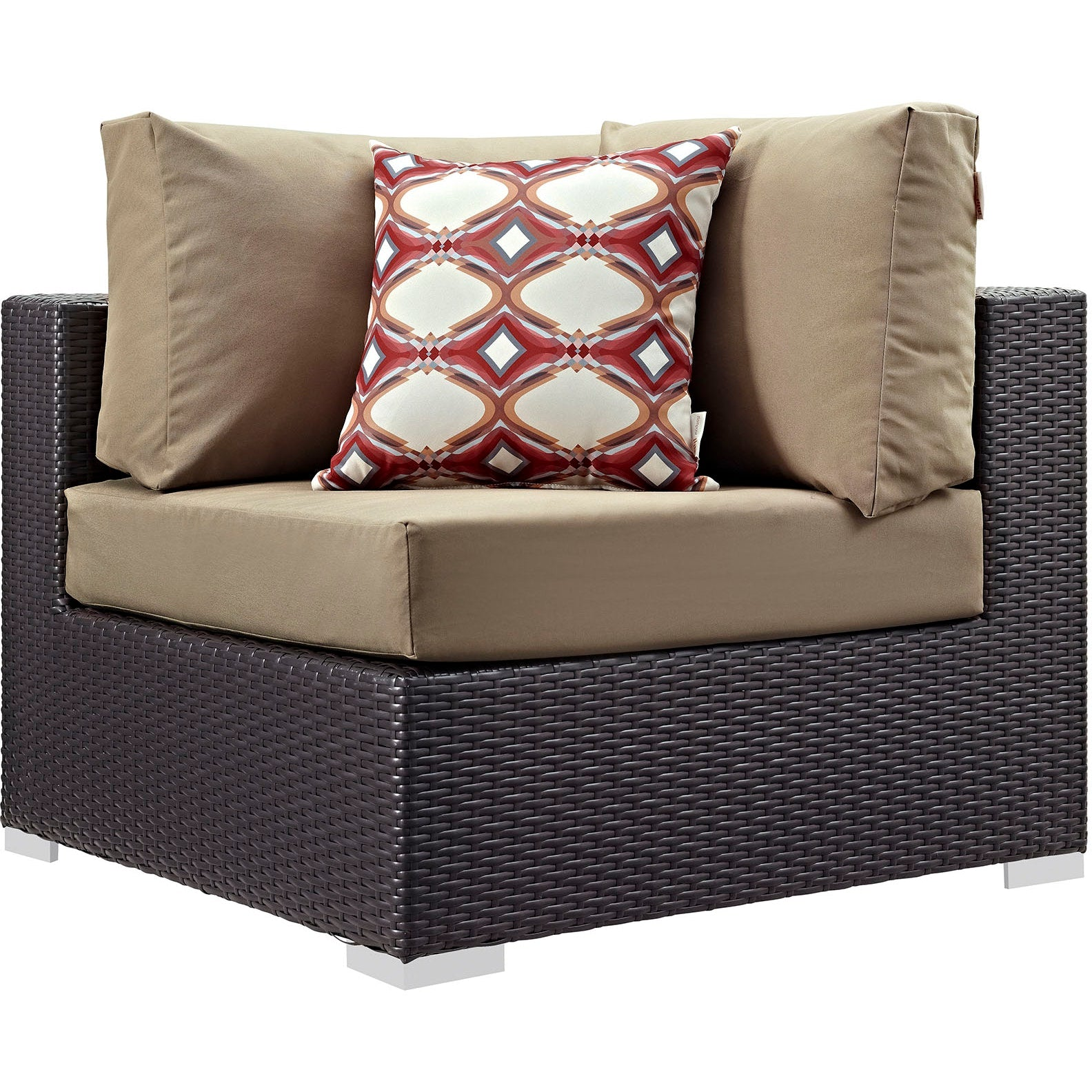 Convene 7 Piece Outdoor Patio Sectional Set - Espresso Mocha