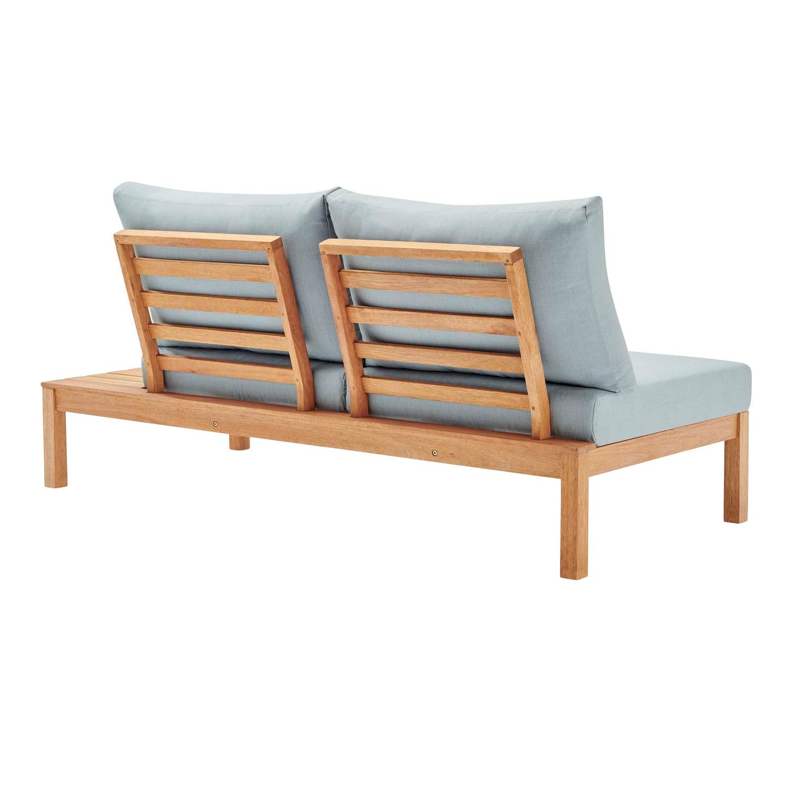 Freeport Karri Wood Outdoor Patio Loveseat With Left Facing Side End T Top Drawer Furniture
