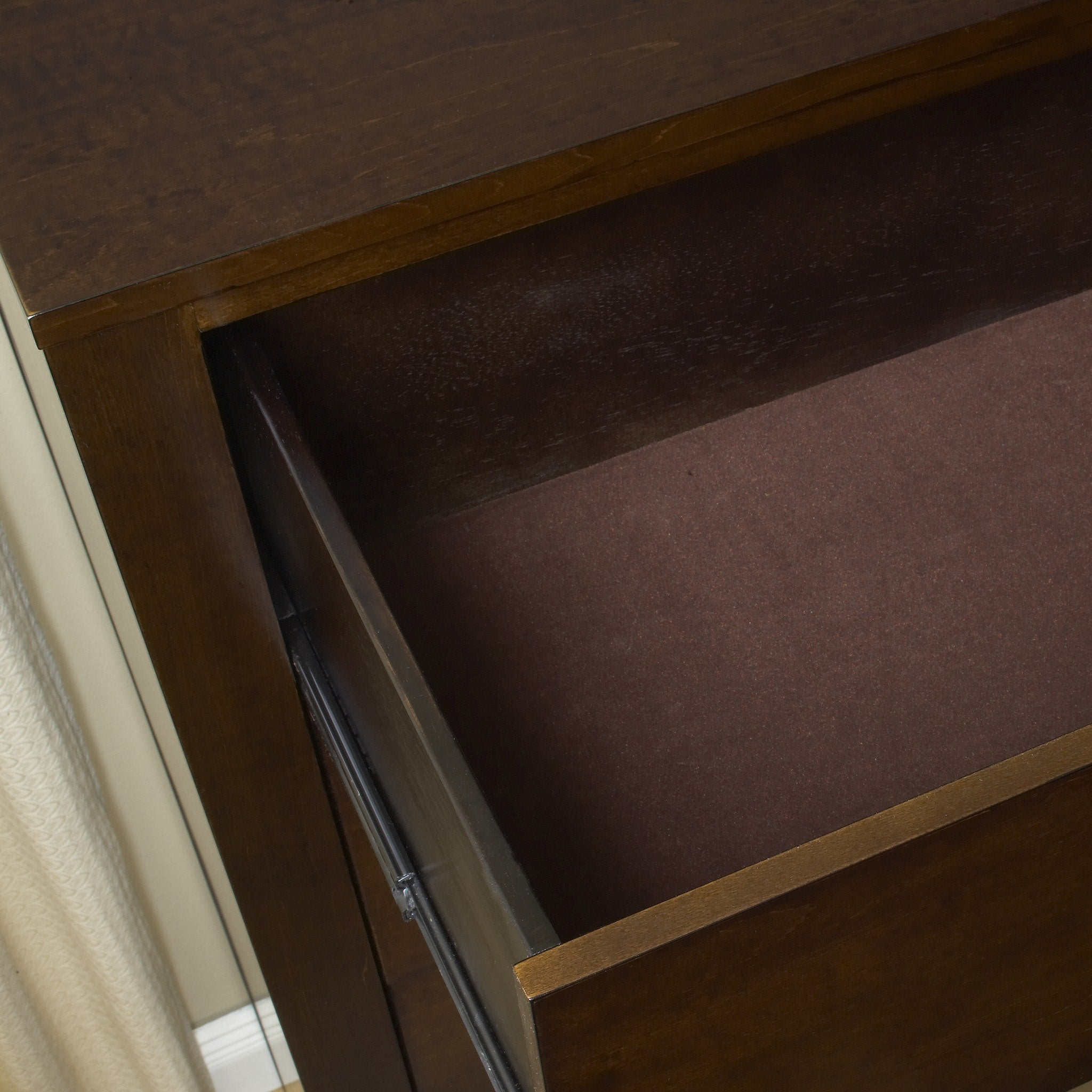 Riva Five Drawer Chest in Chocolate Brown