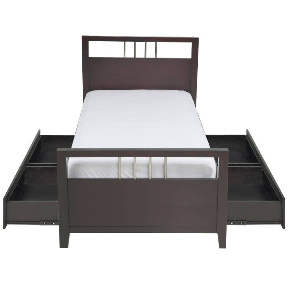 Nevis California King-size Platform Storage Bed in Espresso
