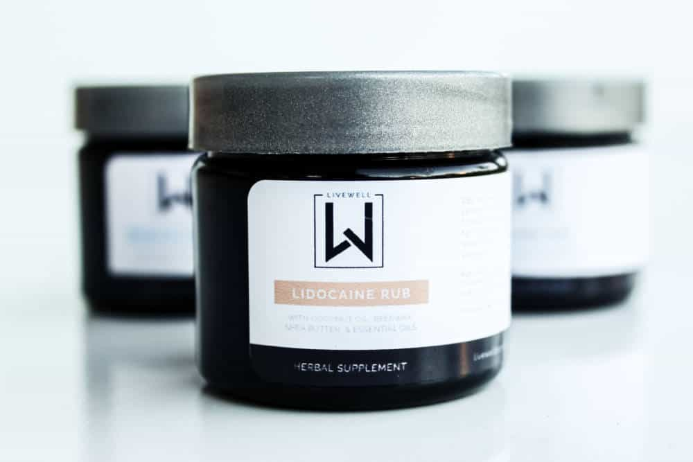 Lidocaine Salve with Coconut Oil, Shea Butter, Beeswax, & Essential Oils