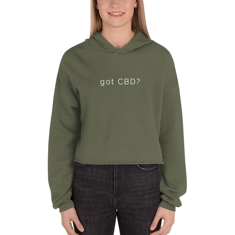 "Women's ""Got CBD?"" Crop Hoodie - 4 Colors"