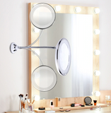 Makeup Mirror 10X Magnifying LED Bathroom Strong Suction Cup 360 Degree - Beauty aeylist