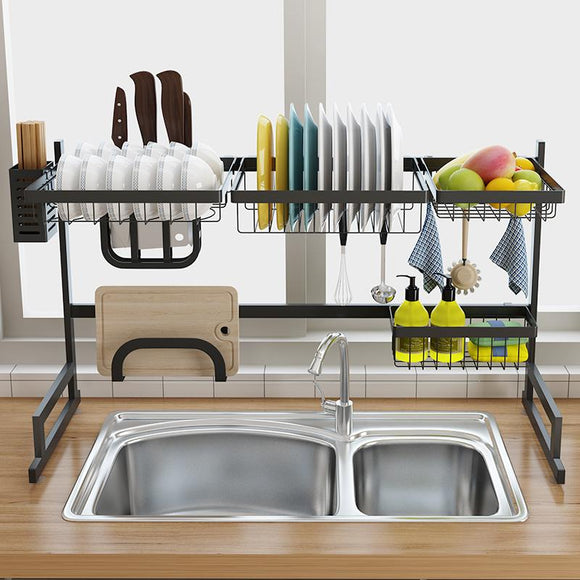 Stainless Steel Sink Drain Rack Kitchen Shelf organization kitchen sink - EDT 22 Days