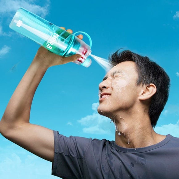 Creative Spray Sports Water Bottle Professional Sports Bottle for Outdoor Sports Gym  - aeylist
