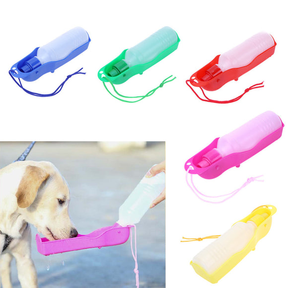 250ml Foldable Pet Dog Drinking Water Bottles Travel Hand Held Puppy Dogs Squeeze Water Bottle Dispenser Water Pan