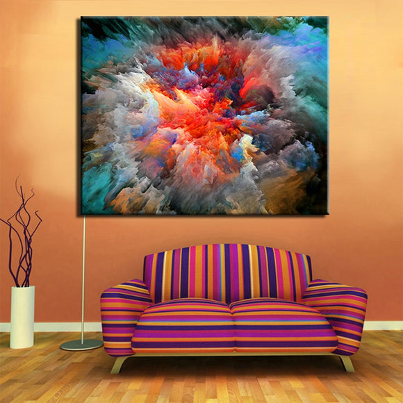 Oil Painting Cuadros Free Shipping Hot Sell Wall Painting Picture Colorful Clouds Home Decorative Art Paint On Canvas Prints