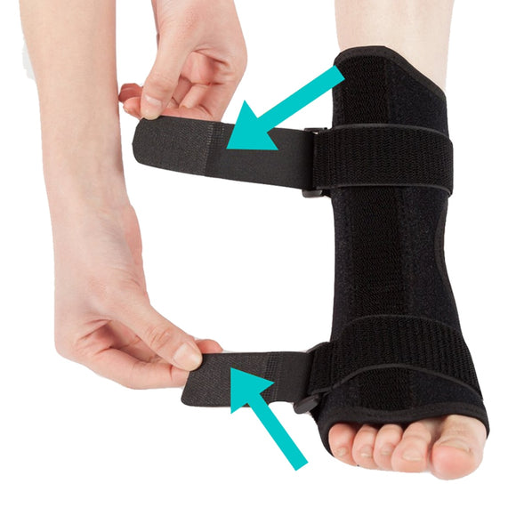 Plantar Fasciitis Dorsal Night & Day Splint Foot Orthosis Stabilizer Adjustable Drop Foot Orthotic Brace Support Pain Relief - healthcare