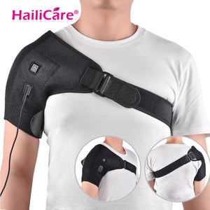 Heat Therapy Shoulder Brace Adjustable Shoulder Heating Pad for Frozen Shoulder Bursitis Tendinitis Strain Hot Cold Support Wrap - healthcare