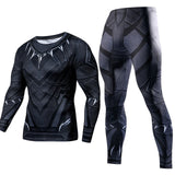 Men's Compression GYM training Clothes workout Sportswear Fitness 2pcs / sets