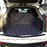 Car Seat Cover Waterproof Dog Bed Mat with Safety Belt Travel Bag for Large Dog