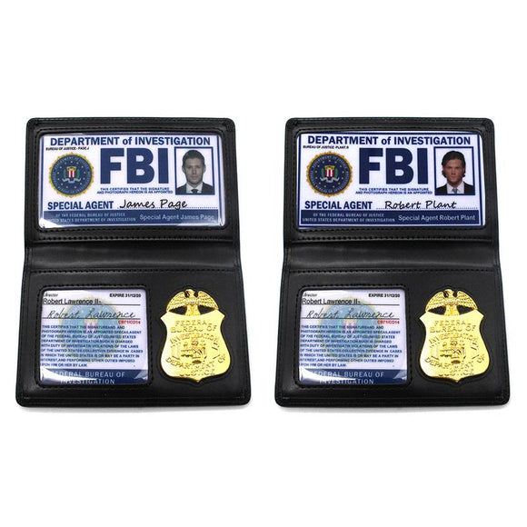 Kids Role Occupations Playing Toys Supernatural Dean Sam Winchester FBI Metal Badge Card Holder Police ID Cards - EDT 22 Days