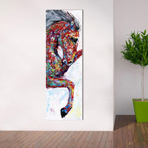 Wall Art Canvas Painting Animal Picture Poster Prints Horse Painting Home Decor No Frame