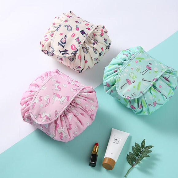 Drawstring Travel Cosmetic Bag Makeup Bag - Beauty aeylist