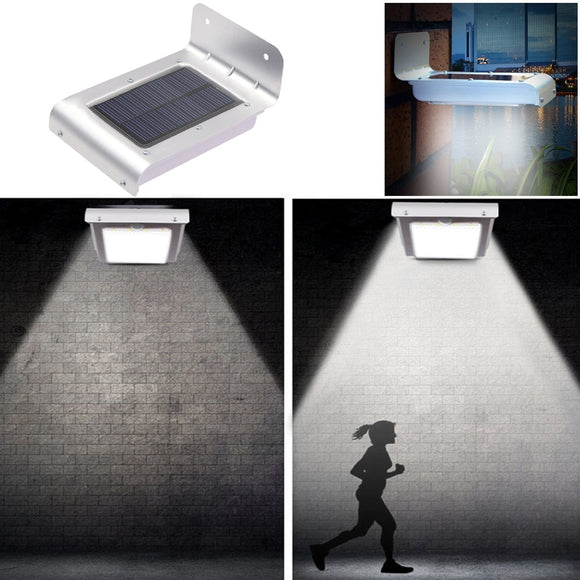 16 LED Solar Power Motion Sensor Garden Security Lamp Outdoor Waterproof Light - aeylist