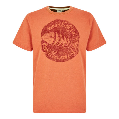 Weird Fish Woodcut Branded T-Shirt