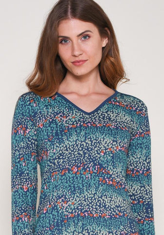 Brakeburn Heather V-Neck Top