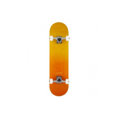 Rocket Complete Skateboard Double Dipped Orange 8 IN