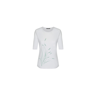 Greenbomb Plants Reed Deep White T-Shirt