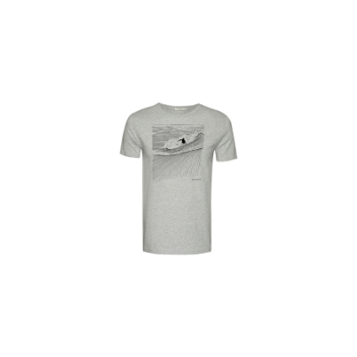 Greenbomb Nature Surfer T-Shirt Heather Gray