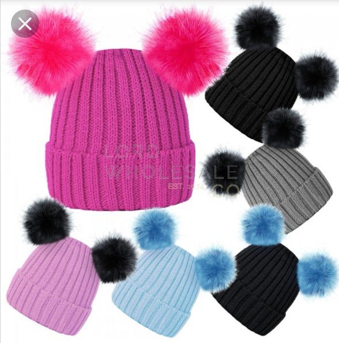 Rock Jock Twin Bobble Hat