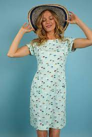Weird Fish Tallahassee Organic Printed Jersey Dress