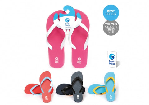 Surf State Girls Flip Flops Assorted