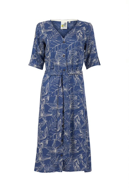 Weird Fish Milli Printed Viscose Midi Dress