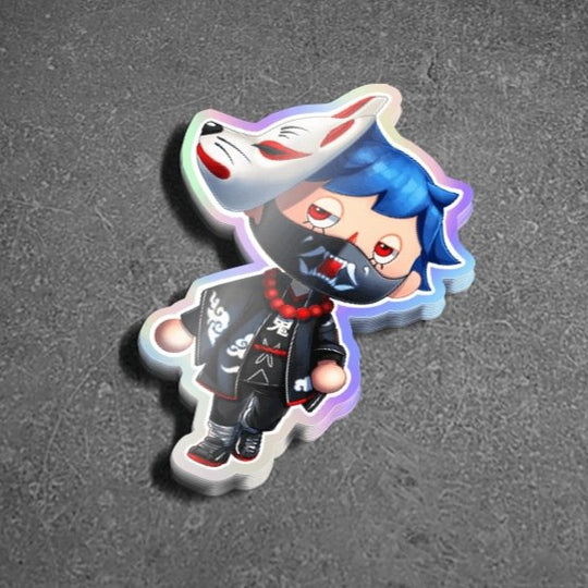Animal Crossing Kanu Holographic Sticker