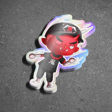 Load image into Gallery viewer, Animal Crossing Oni Holographic Sticker - Totem Media
