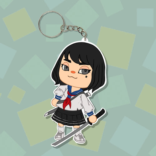 Animal Crossing Samurai Girl Keychain - Totem Media