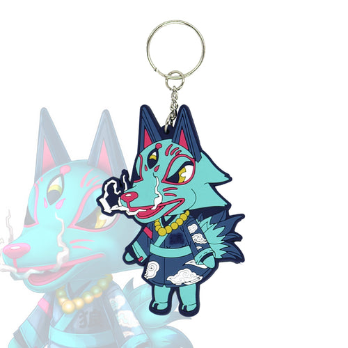 Animal Crossing Wolf Villager Keychain - Totem Media