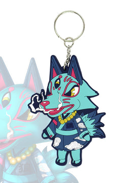Animal Crossing Wolf Villager Keychain