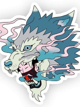 Howl Blue Geisha Sticker