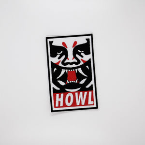 Howl Obey Iron on Patch - Totem Media