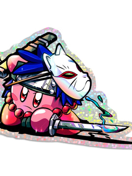 Kanu Kirby Holographic Sticker