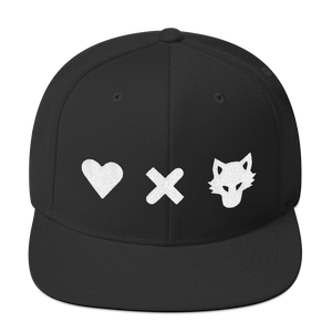 Love Death and Wolves Snapback Hat - Totem Media