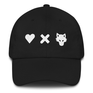 Love Death and Wolves Dad hat - Totem Media