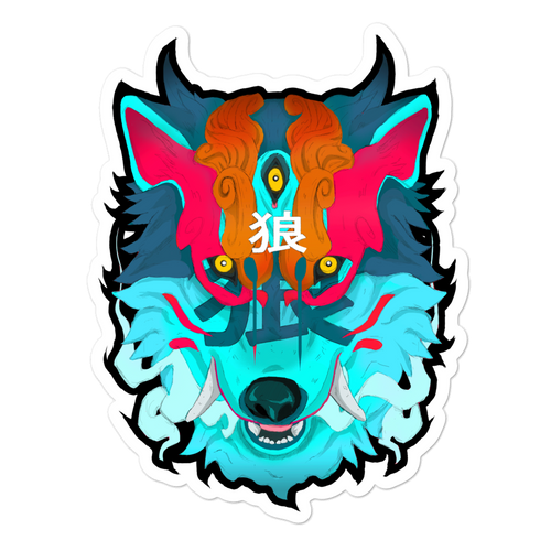 Wolf Demon stickers - Totem Media