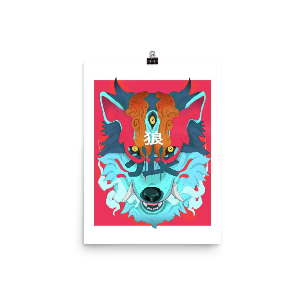 Oni Wolf Poster - Totem Media
